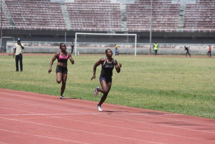 Rasheedat Lawal ran the fastest time of all heats to win the 100m