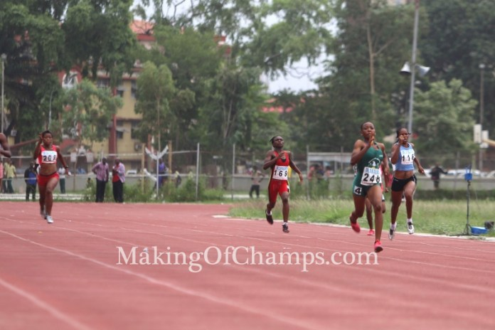 Chiamaka Egbochinam was outstanding in her 200m heat.