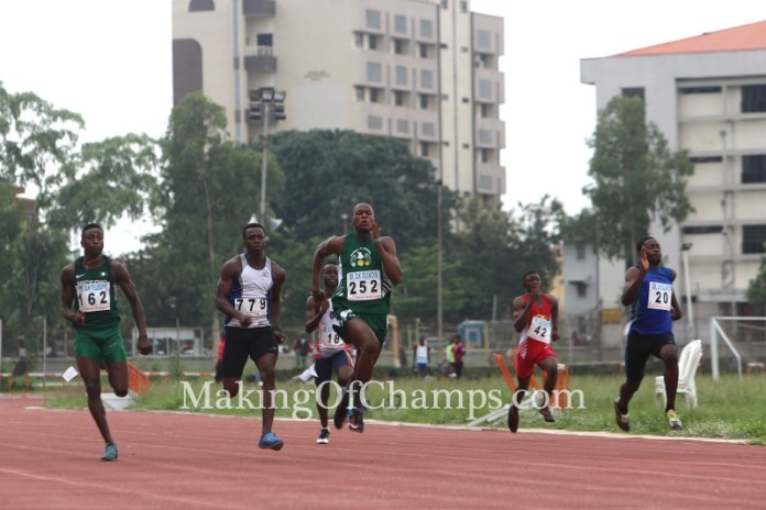 Jerry Jakpa outclassed the rest of the field in his 100m heat.
