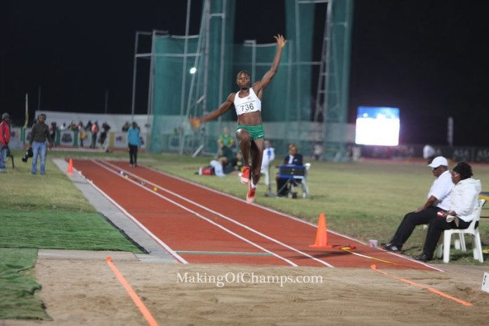 Ese Brume made it back to back wins in the African Championships, retaining her GOLD medal in Durban.