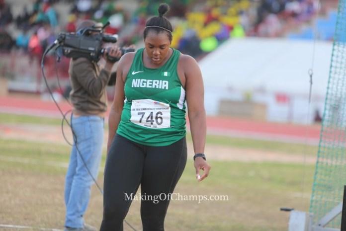 Nwanneka Okwelogu led the way for Nigeria in women's Discus