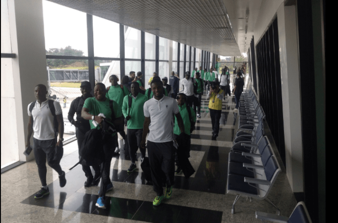 Dream Team VI arriving Brazil just six hours to their game against Japan. Photo Credit: @ebikagboro