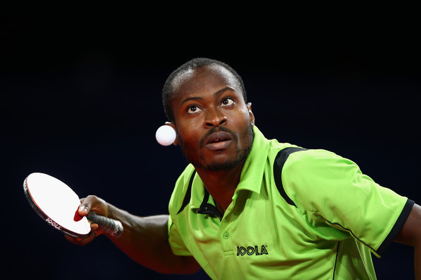 Aruna Quadri with a focused gaze, never blinking for a second as every serve counts. Photo Credit: www.ittfafrica.com