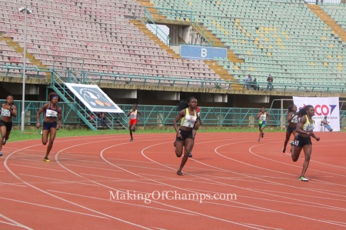 Ajayi (Right) was the woman to beat in the 400m finals.
