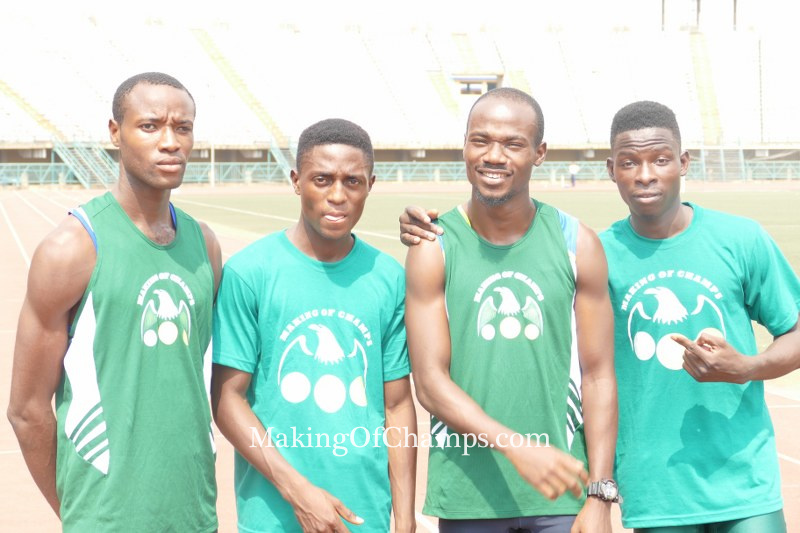 The quartet of Ebuzoeme,Jimoh, Aderuku and Akhigbe won the 4x800m