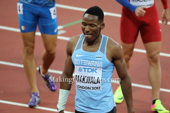 Botswana, Isaac Makwala, World Championships