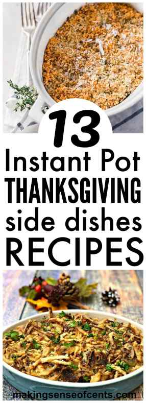 10 Instantpot Thanksgiving Side Dishes #instapot #thanksgiving