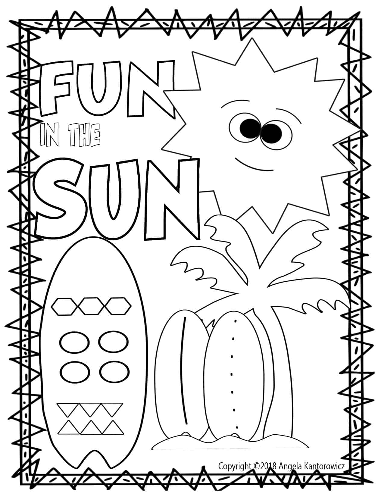 Fun In The Sun Color Sheet