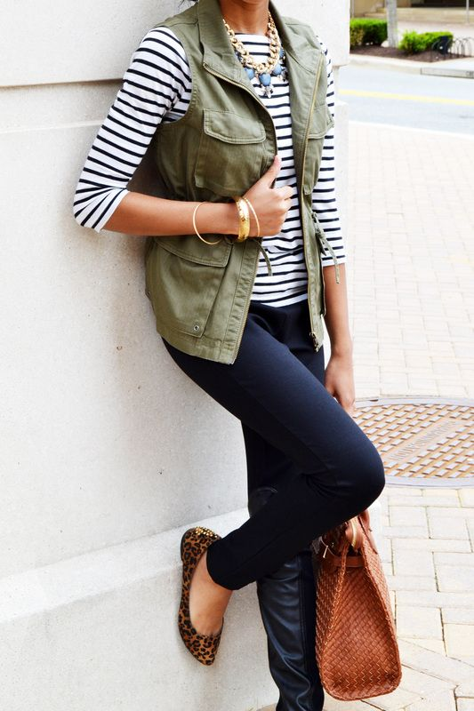 wider stripe shirt and vest