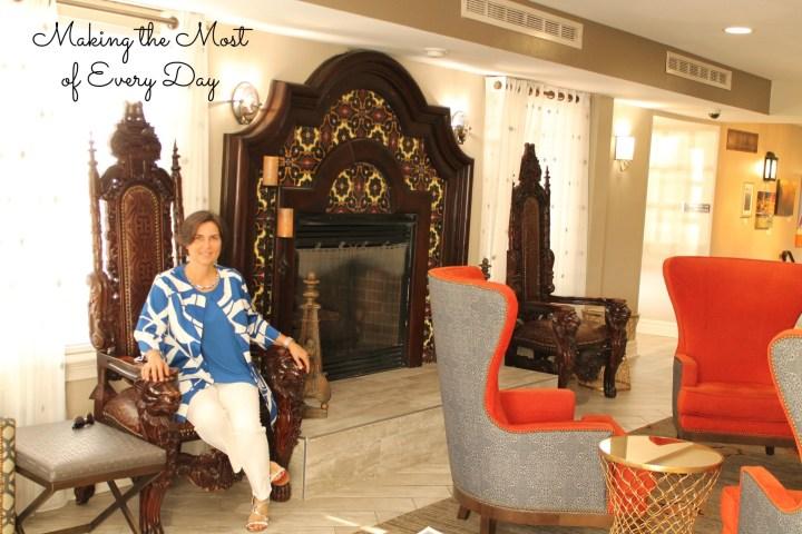 Hilton fireplace