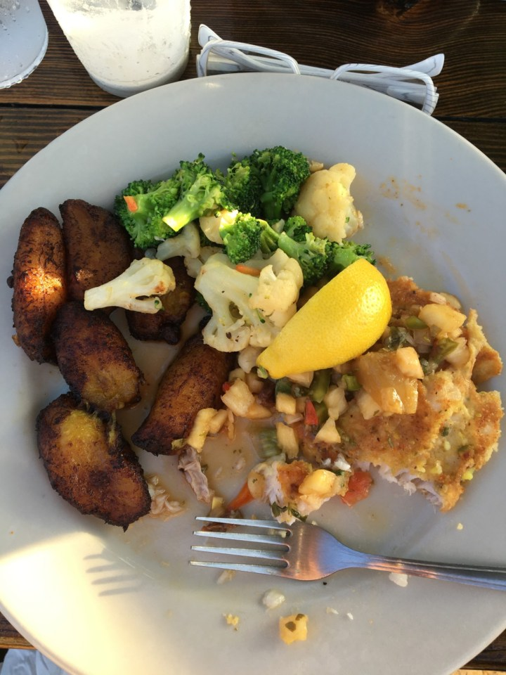 fish with plantains