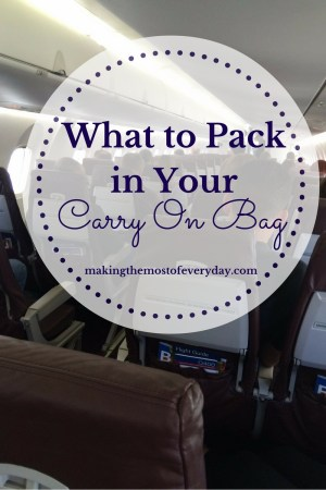 What to Carry On