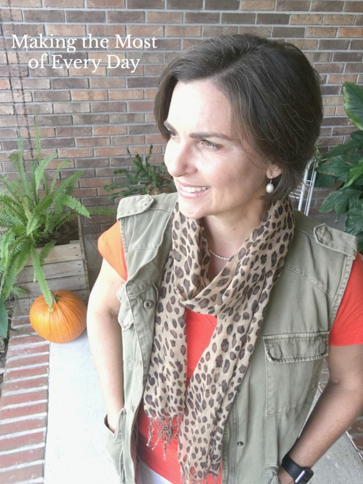 How to transition a summer outfit to fall with scarves.