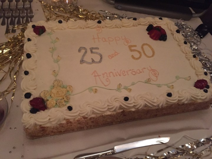 How we celebrated our 25th and 50th wedding anniversaries!
