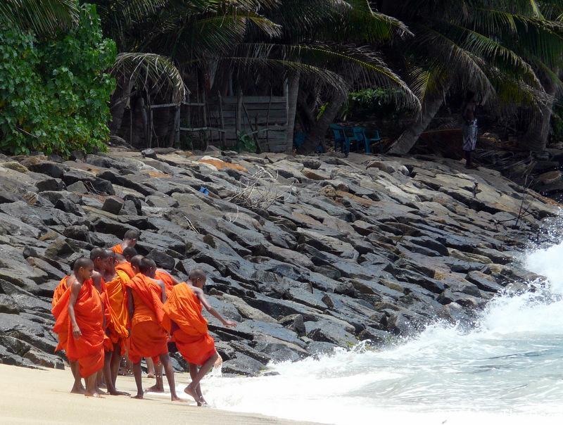 mirissa plage moine bouddhisme à voir absolument au sri lanka