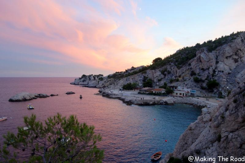 plage ou se baigner prés de Marseille city guide - La Vesse depuis la pointe de Figuerolles