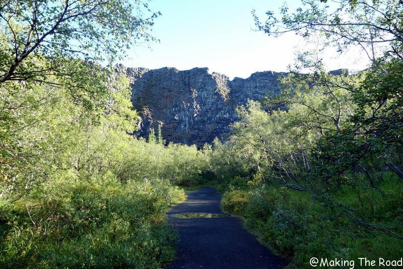 randonnée Canyon Asbyrgi islande