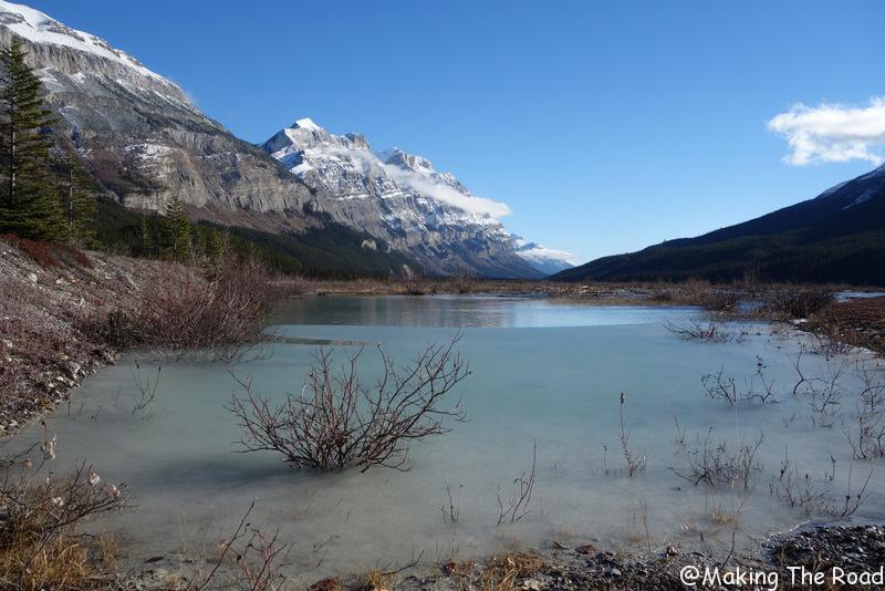 lac bow en hiver