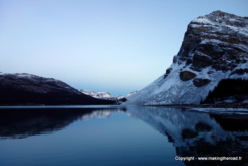 randonnee lac bow canada