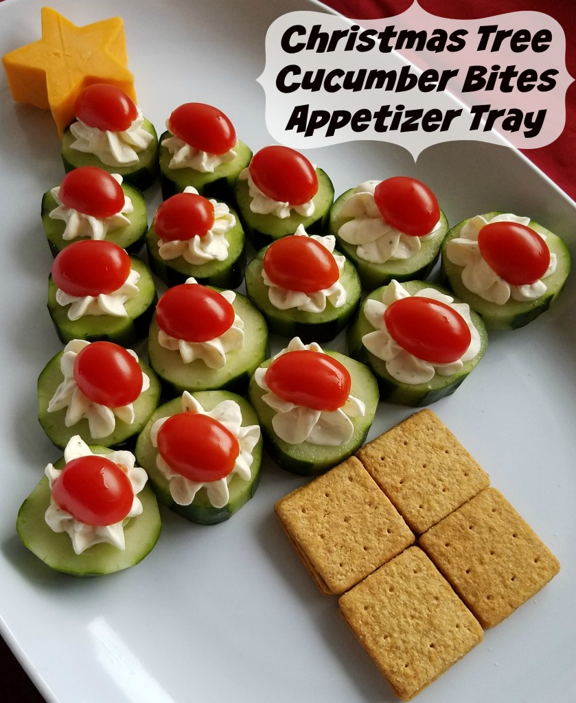 Cucumber Bites Christmas Tree Appetizer Tray Making Time