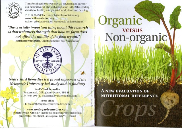 THE DIFFERENCE BETWEEN ORGANIC AND NON-ORGANIC FOOD - PAGE 1