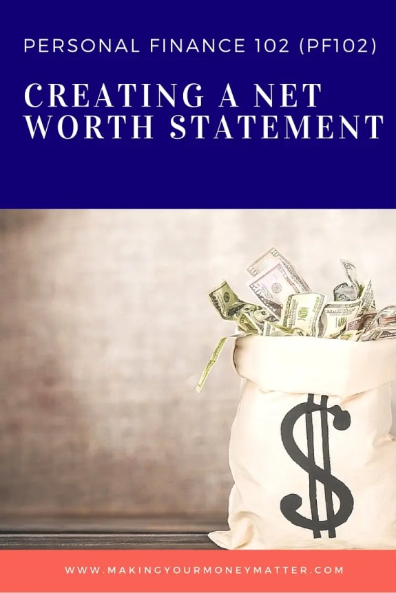 This is the 2nd class in a series about creating your own financial plan. Create your own net worth statement with this free printable spreadsheet!
