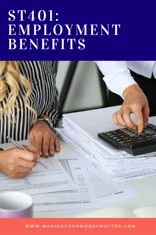 Your financial plan should take into consideration other employee benefits you receive. Great explanation including tuition assistance programs, worker's comp, employee stock options, PTO and other benefits!