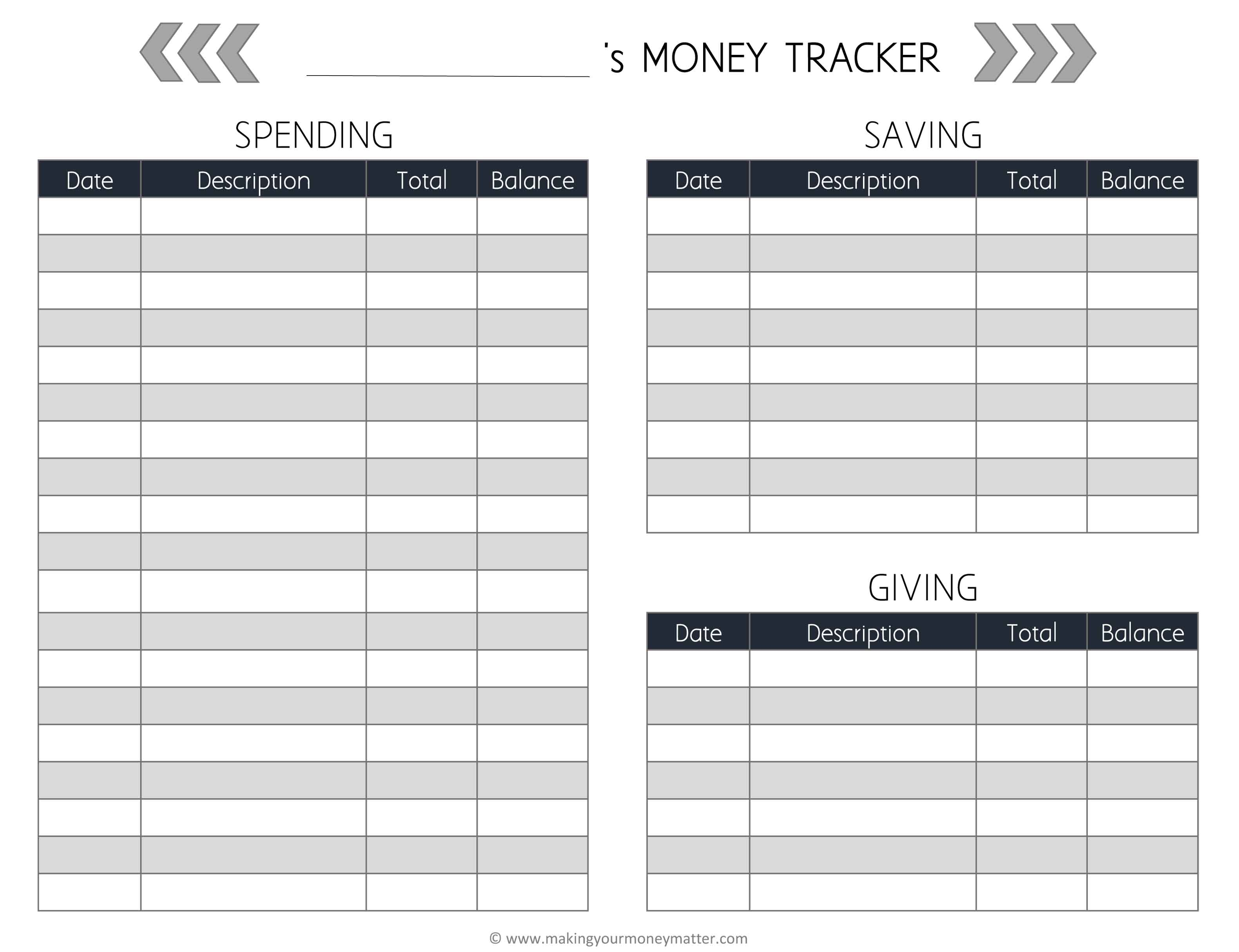 allowance tracker spreadsheet