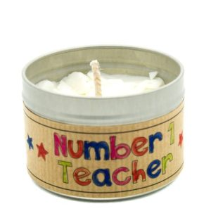 Child Friendly Candle Making – Teacher's Gift in a Tin with Customisable Label