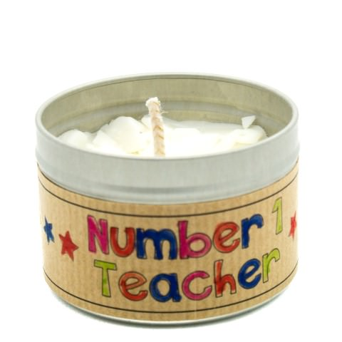 Children candle making teachers gift
