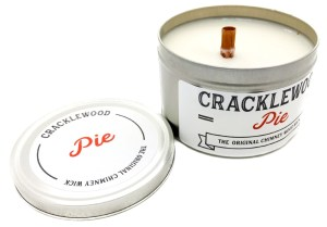 Cracklewood Wood Wick Candles, with a unique patented chimney wood wick