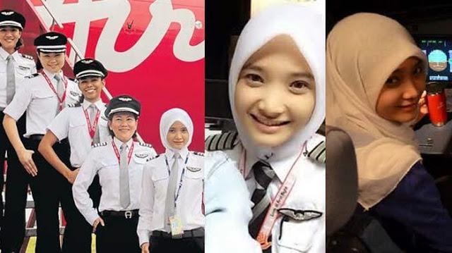 Noor Hafizah, Pilot Air Asia Cantik dengan Hijab