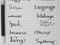 font tulisan tangan