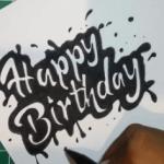 tulisan tangan happy birthday
