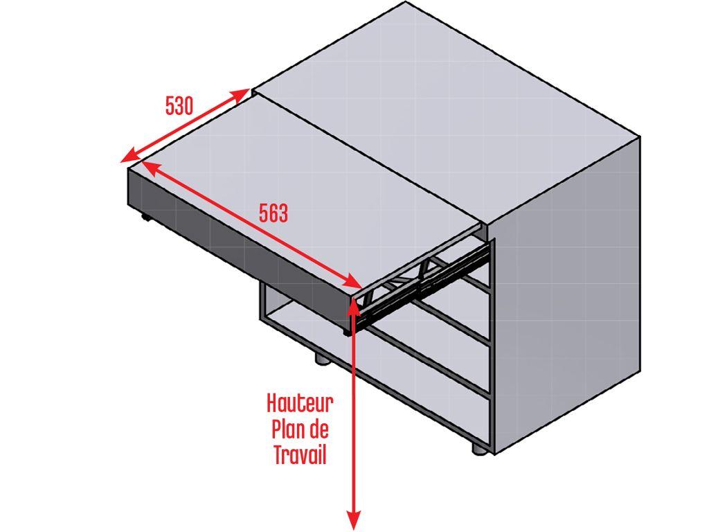 plan de travail tiroir