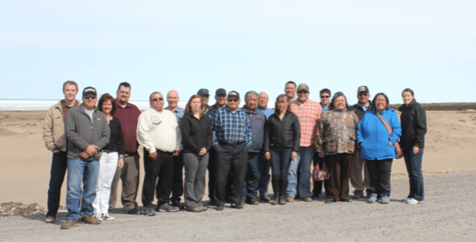 participants of the fourth meeting of the Ungava Peninsula Caribou Aboriginal Round Table.  Missing from photo: Innu Nation Credit: Nadia Saganash