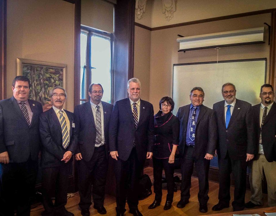 Makivik and KRG meet with Quebec Premier Philippe Couillard