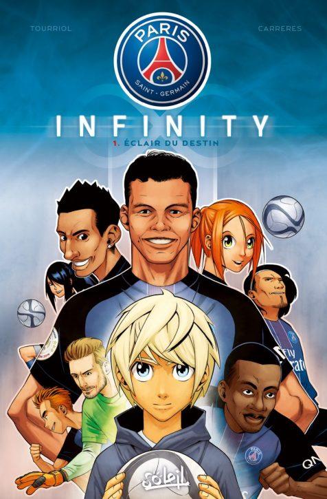 PSG Infinity : la série officielle des mangas du Paris Saint-Germain ! Un euromanga écrit par un mangaka français et dessiné par un illustrateur espagnol !