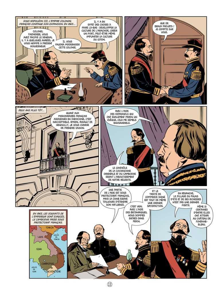 Napoléon III en BD illustré par Klever Flores, Jean-Baptiste Merle, Nathan Kempf pour la collection Histoire de France en Bande Dessinée.