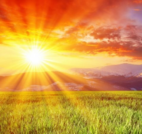 Overcome sun background