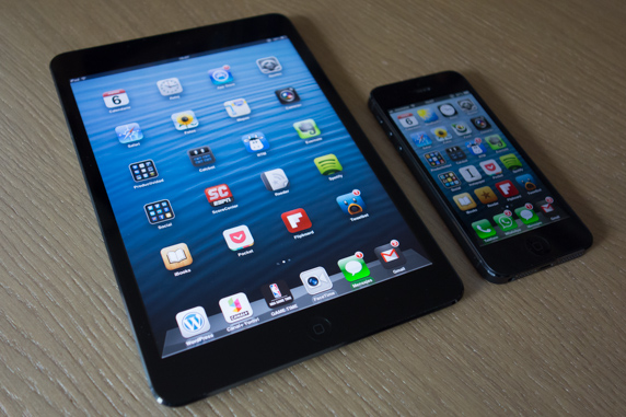 Comparación iPad mini y iPhone 5
