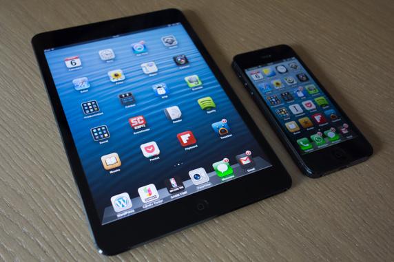 Comparación iPad mini y iPhone 5