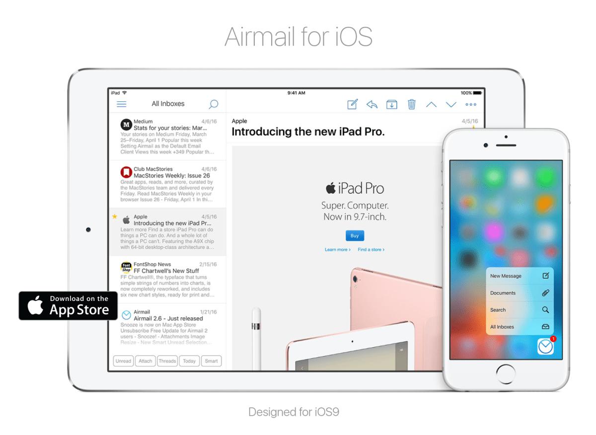 Airmail 1.1, la actualización que rompe esquemas en iOS