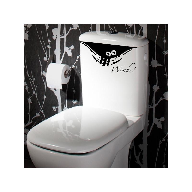 abattant wc monstre humoristique qui sort de la cuvette