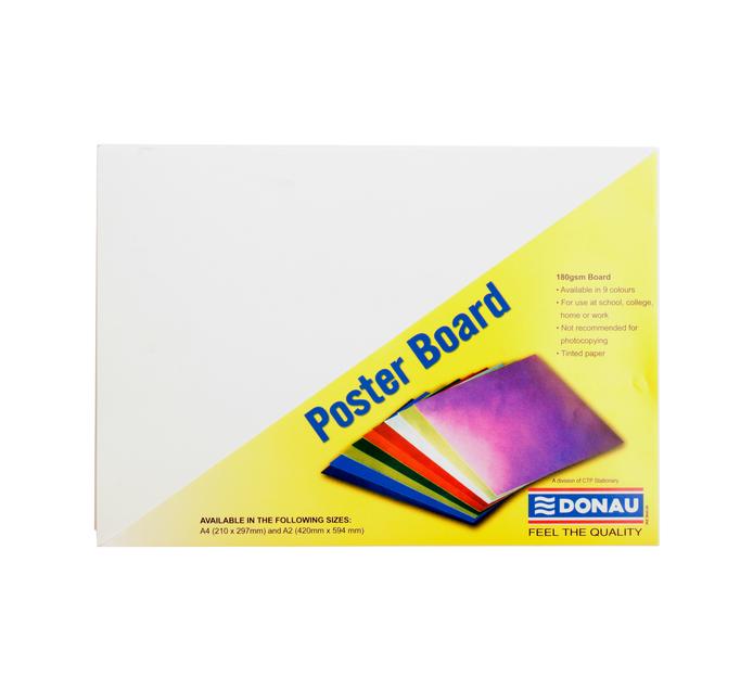 donau a4 poster board white 100 pack