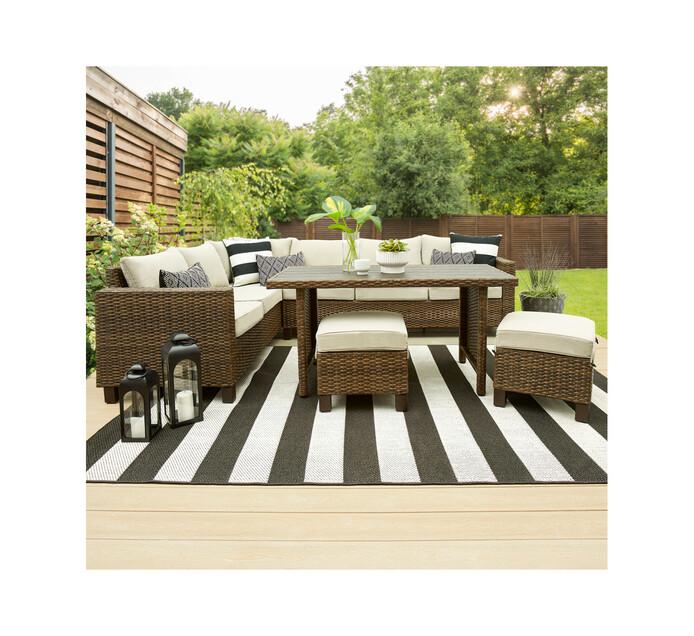 better homes garden bhg 5 piece brookbury wicker sectional dining set