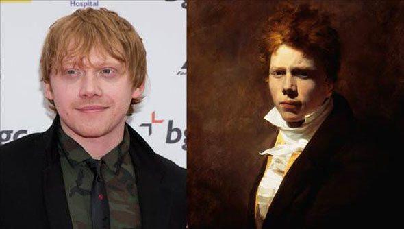 Rupert-grint-ressam-sir-david-wilke Günümüzdeki Ünlülerin,tarihteki benzerleri!