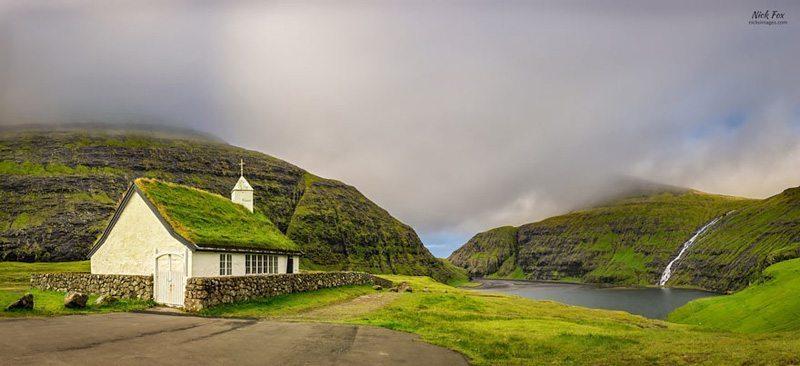 Saksun-Kilisesi,-Faroe-Adaları Çatısında Doğa Barındıran Evlerin Diyarı!