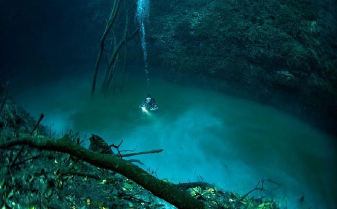 denizin-icinde-gol-var Denizin İçinde (Altında) Göl Keşfedildi!Göle Giren Canlıları Öldürüyor!