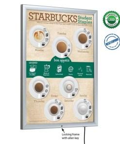 Smart Poster Led Light Box Dış Mekan Kilitli